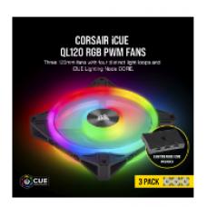 CORSAIR CASING FAN QL120 RGB 120mm PWM Triple Fan With Lighting Node CORE # CO-9050098-WW