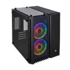 CORSAIR CASING Crystal Series 280X RGB Tempered Glass Micro ATX Black CASE # CC-9011135-WW